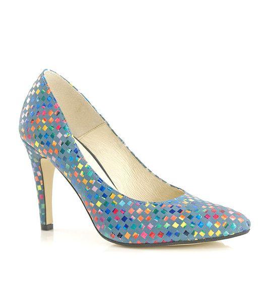 FashionSupreme - Pantofi în albastru-deschis cu imprimeu multicolor Loretta - Încălţăminte - Pantofi - Bosccolo - standard ridicat pentru Ea. Haine şi accesorii de marcă. Haine de designer.