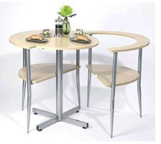 The Lovers Breakfast Table Is A Space Saving Table With Two Chairs That Fold