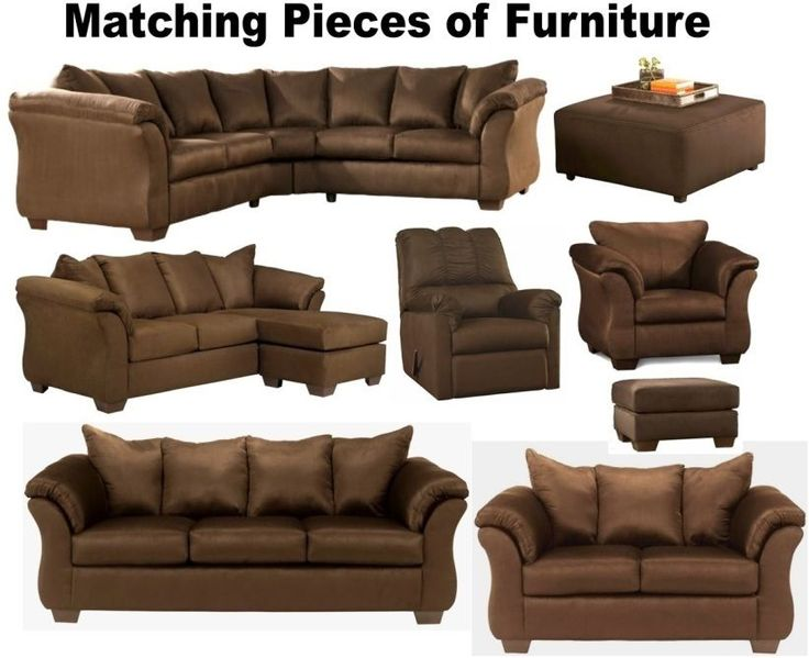 Brown Furniture Set Sofas Loveseat Sleeper Chair Chaise Sofa Chairs Sectional #AshleyFurniture #Contemporary