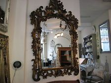 A large Antiqued Gilt French Rococo style Mirror/free delivery within 50 miles