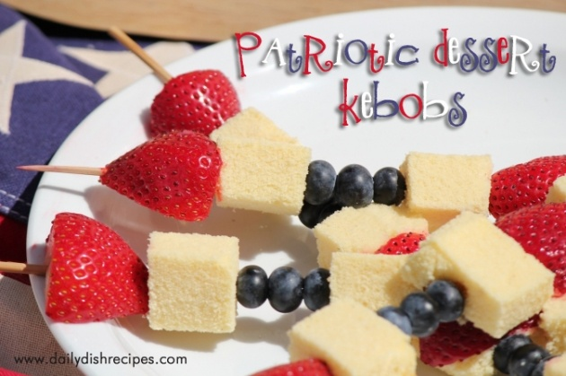 Fourth of July Recipes: Patriotic Fruit and Cake Kebobs
