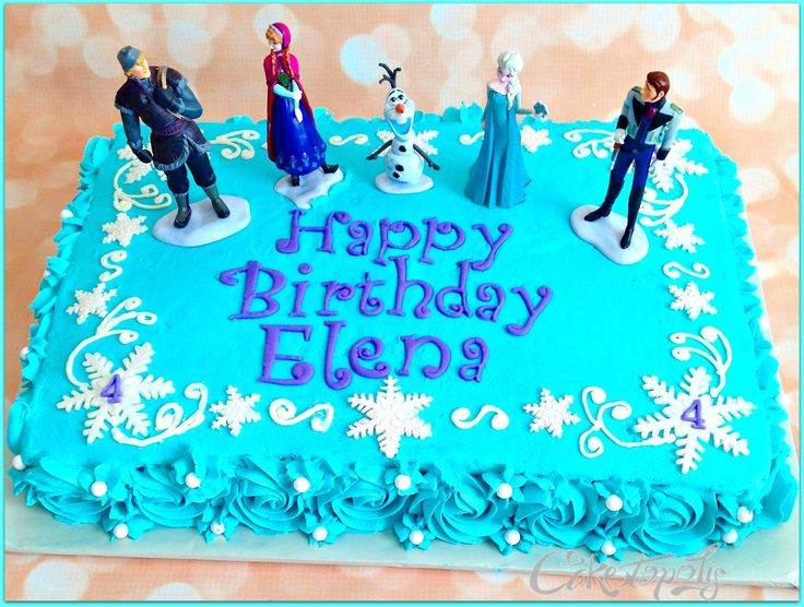 frozen sheet cake | Caketopolis Custom Cakes | Frozen Sheet Cake