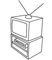 Kleurplaat Verjaardag Uitdelen Kleurplaat Stuk Tv Media Kleurplaten Tv Kijken