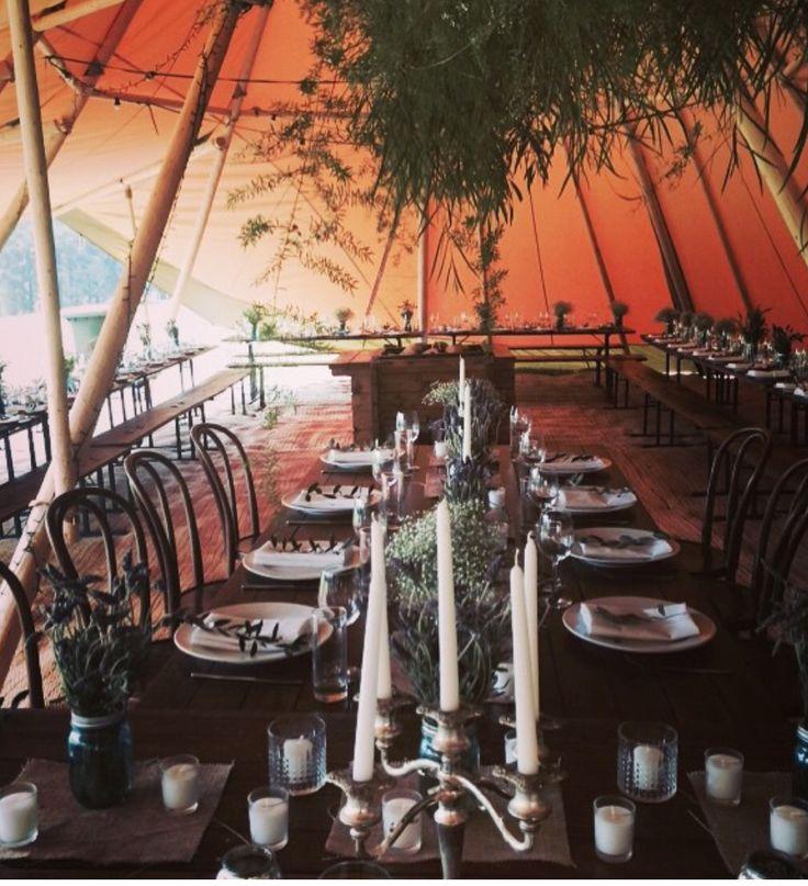Tipi interior decor wedding