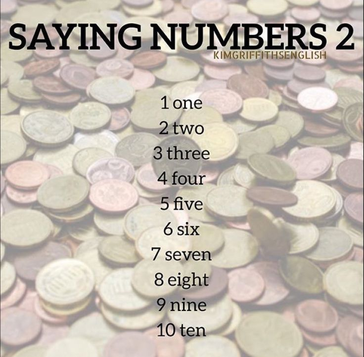 The numbers 1 to ten, English class for beginner learners of English, KIMGRIFFITHS English blog