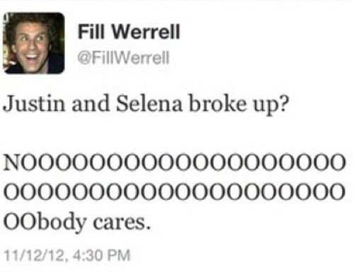 An excellent tweet from Will Ferrell