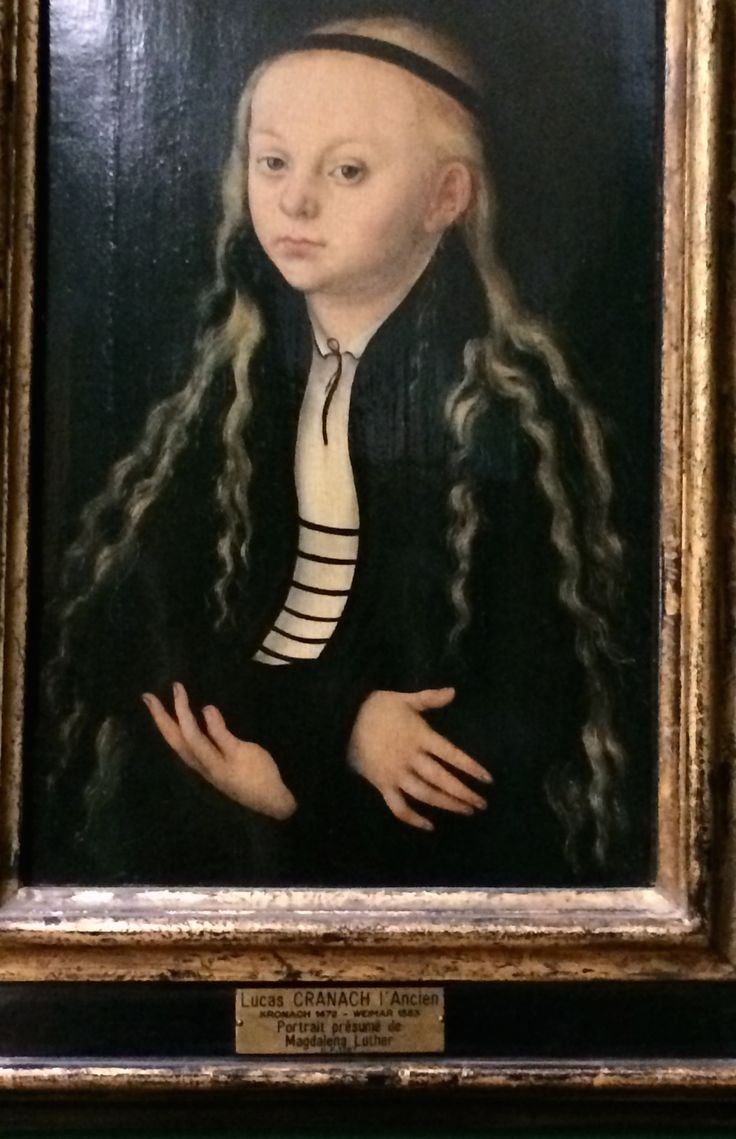 Portrait  of  Magadalena  Luther  by  Lucas  Cranach 1450