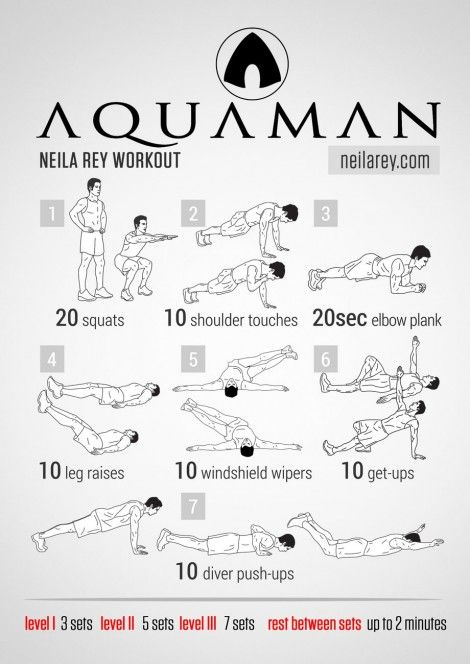 aquaman workout