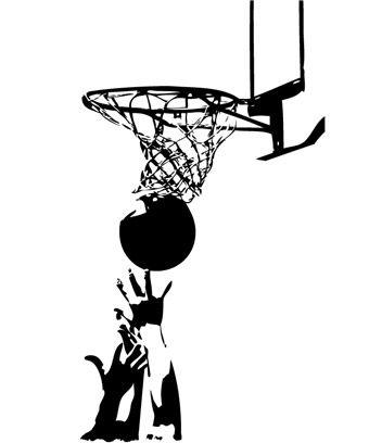 Εφηβικό δωμάτιο | Αυτοκόλλητα τοίχου με αθλήματα - Basketball 07