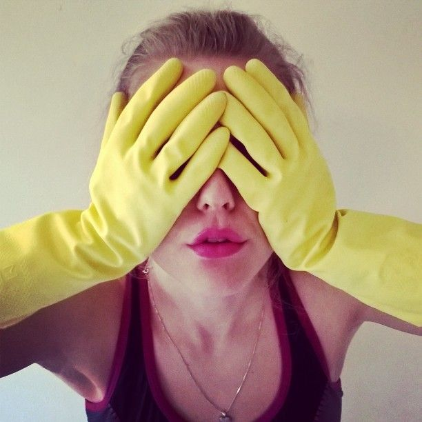 "@elisabeth265: ""I #love the #feeling of #being in a #shiny and #fresh #home  but it's the #cleaning part that #wearsmeout. #yellow #gloves #girl #vårrengjøring #hateit #loveit #makeitgoaway #kiss #springcleaning #awesome"""