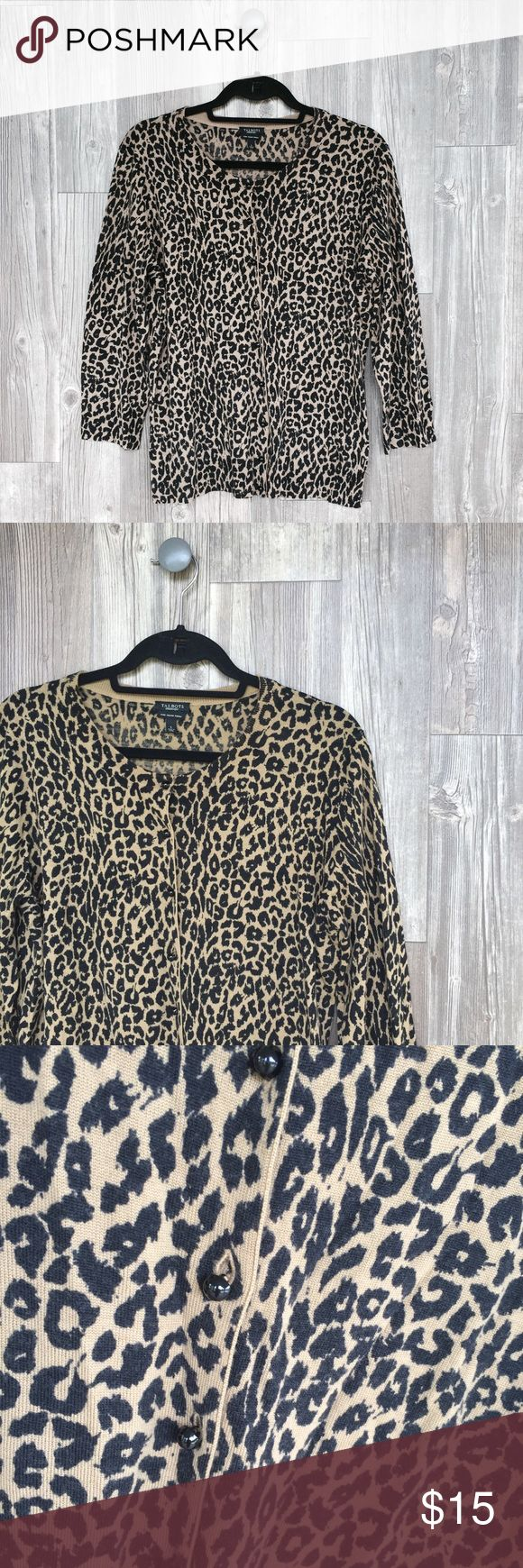 Talbots Cheetah Cardigan Talbots Cheetah Cardigan. Size Large! Perfect condition. Talbots Sweaters Cardigans