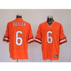 Bears #6 Jay Cutler Orange Stitched NFL Jersey