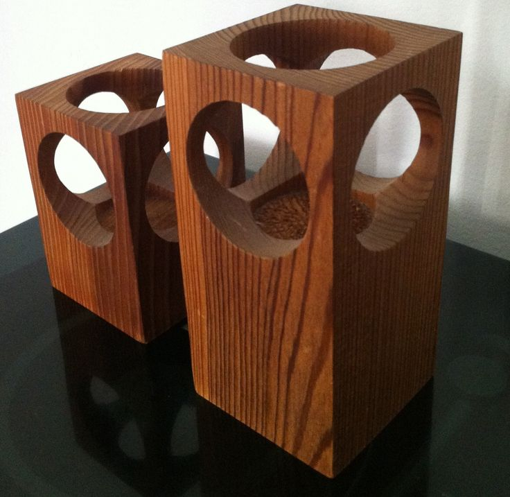 Wooden candle holders. | Collectors Weekly