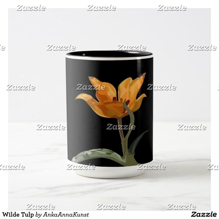 Wilde Tulp Tweekleurige Koffiemok