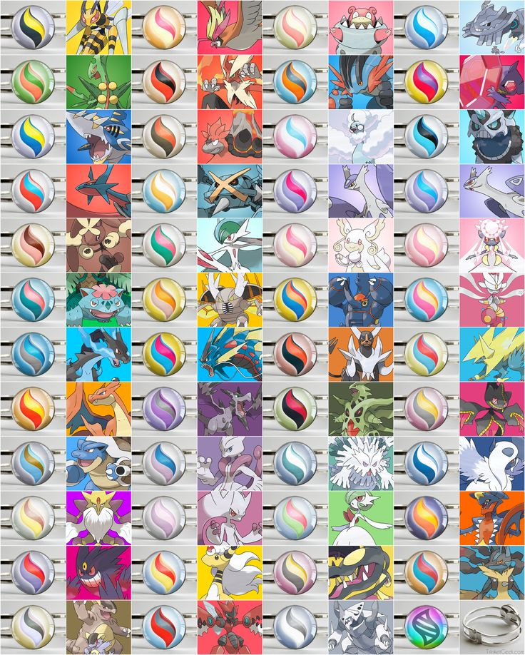 Here are all the Mega Stones for all the pokemon in ORAS! #pokemon #MegaStone #TrinketGeek