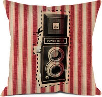 camera pillowFree Ships, Finding Phototool, Comfy Cameras, Cameras Pillows, Cameras Throw, Blue Mattress, Cameras Prints, Mattress Tick, Decor Accessories