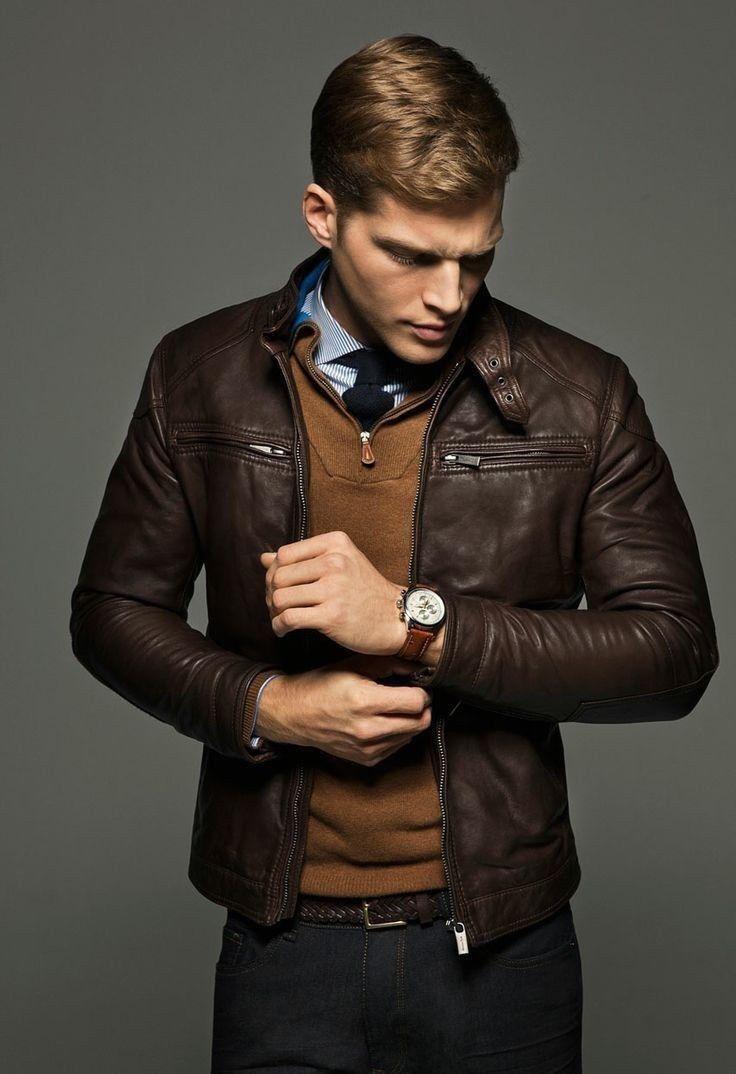 967382a8c Original Leather Jacket Mens Real Lambskin Slim fit Motorcycle Biker ...