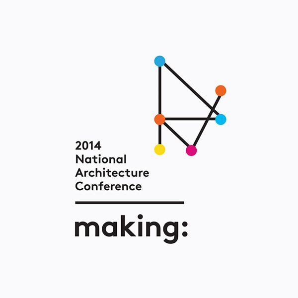 Logo designed by Garbett for the Australian Institute of Architects' 2014 conference Making.
