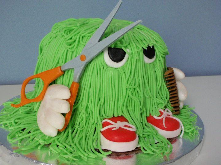 Hairy monster cake