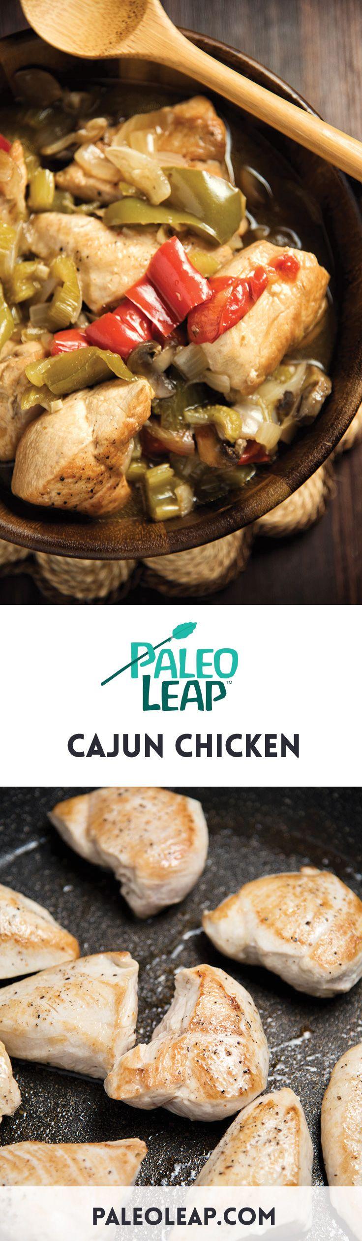 Cajun Chicken With Mushrooms #Paleo