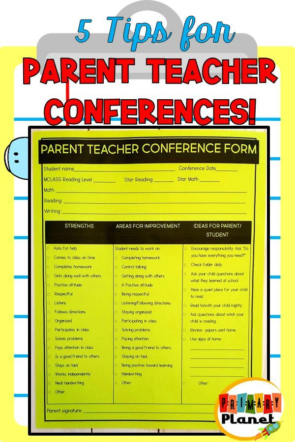 Tips For Successful Parent Teacher >> 5 Tips For Parent Teacher Conferences School Parents As