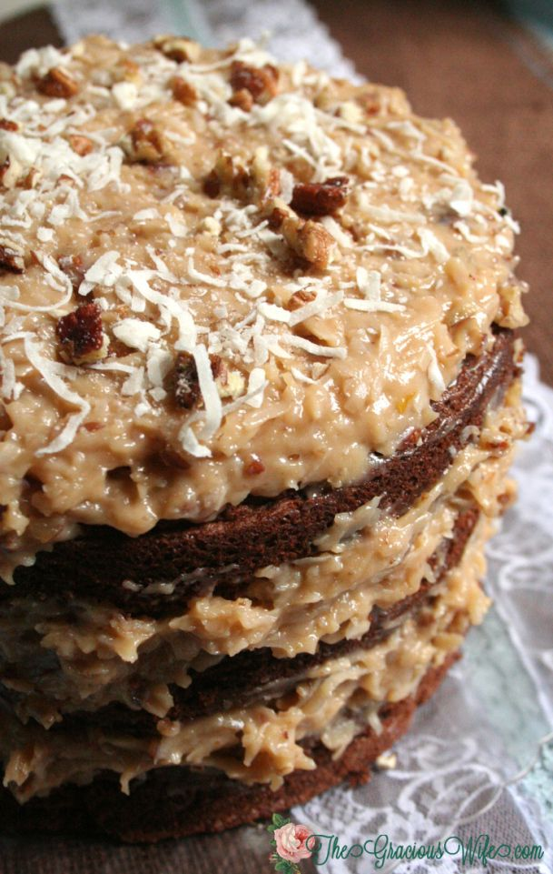Homemade german chocolate cake recipe from scratch