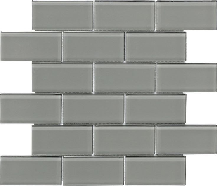 Subway Glass Tile Smoke Grey 2x4 for kitchen backsplash, bathroom, shower, pool, jaccuzi, and spa. Samples available.