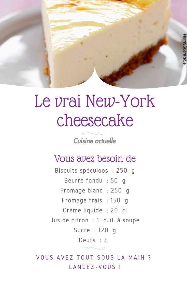 Le vrai New-York cheesecake | Recette (avec images ...