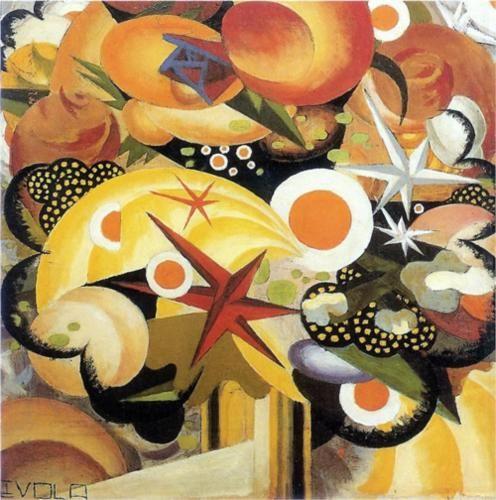 Julius Evola (1898 - 1974) |  Dada | Mazzo di fiori - 1918