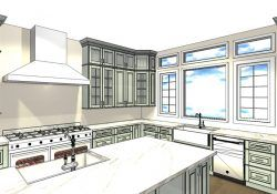 Amazing Westchester County New York Gray and White Kitchen with Harbor Gray Cabinets