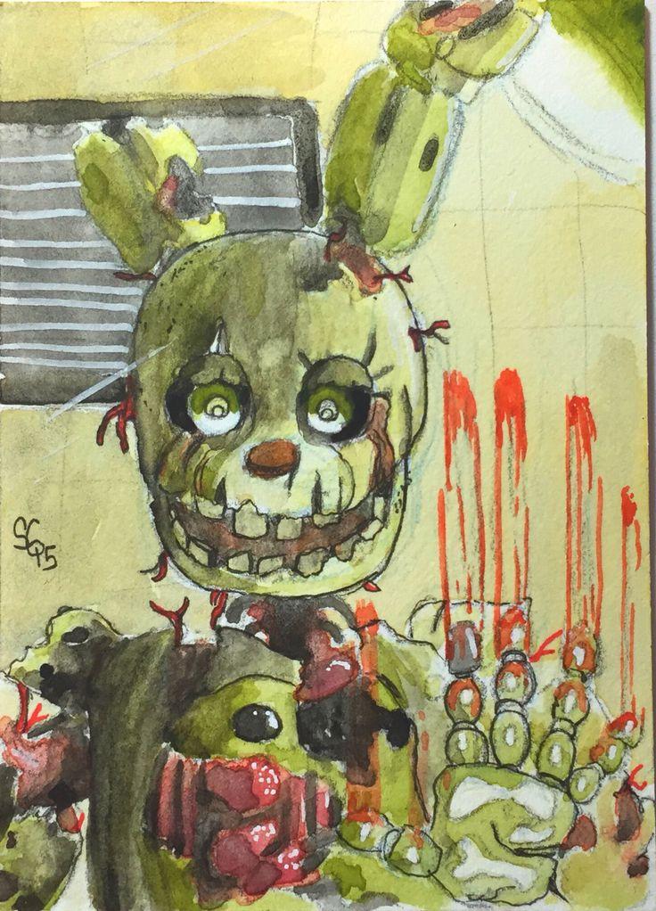 Спрингтрап рисунки детей