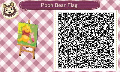 Pooh Bear & Piglet Flag - Animal Crossing New Leaf QR Code