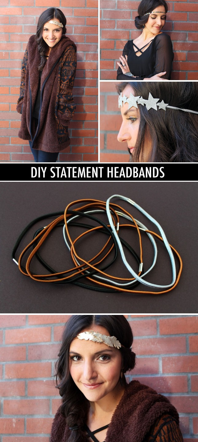 DIY statement headbands - great idea for New Years Eve! star or