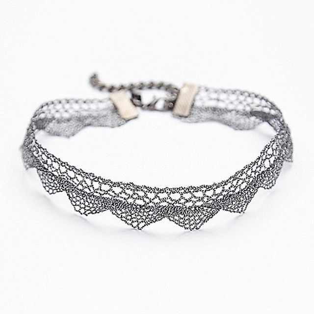 The Silver Aris Metallic Lace Choker is BACK in stock! SHOP NOW >  http://www.regalrose.co.uk/products/aris-metalic-lace-choker