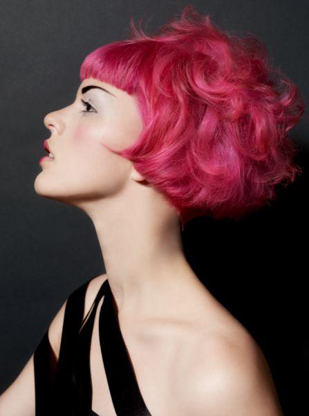 Pink bob, styled beautifully