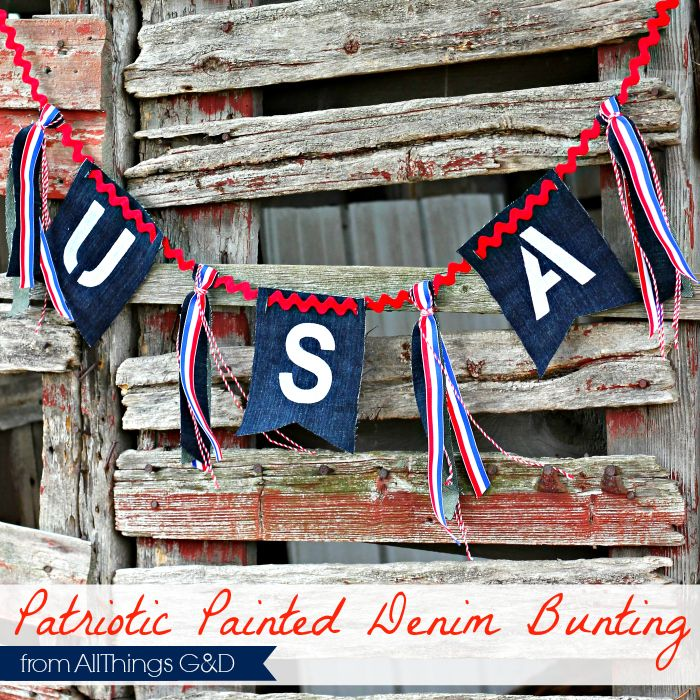 Celebrate Memorial Day 9and the start of summer) with this DIY patriotic bunting.