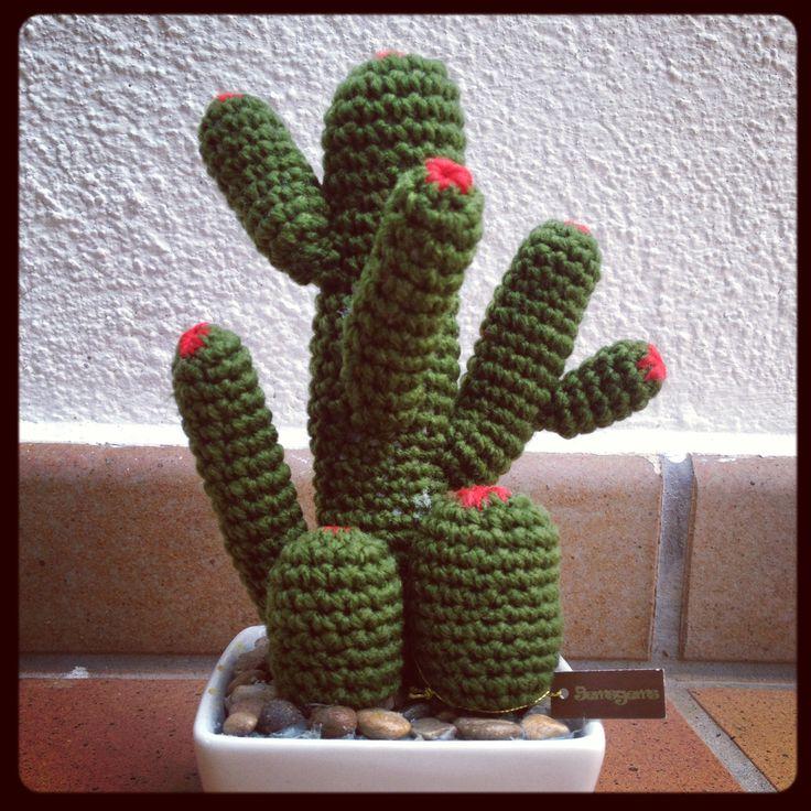 Cactus crochet ganchillo diy manualidades regalos - Manualidades a ganchillo ...