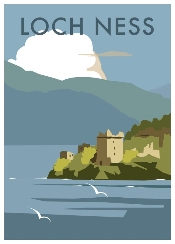 Scotland by Dave Thompson, via Behance