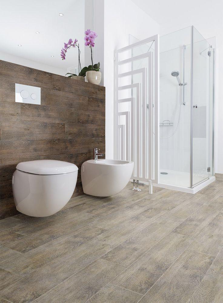 Gres w łazience może imitować drewno