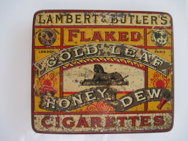 Excited to share the latest addition to my #etsy shop: Lambert & Butlers Flaked Gold Leaf Honeydew cigarette tin (20/empty) c. 1900 http://etsy.me/2CmlfmF #vintage #collectables #cigarettetin #tobaccocollectibles