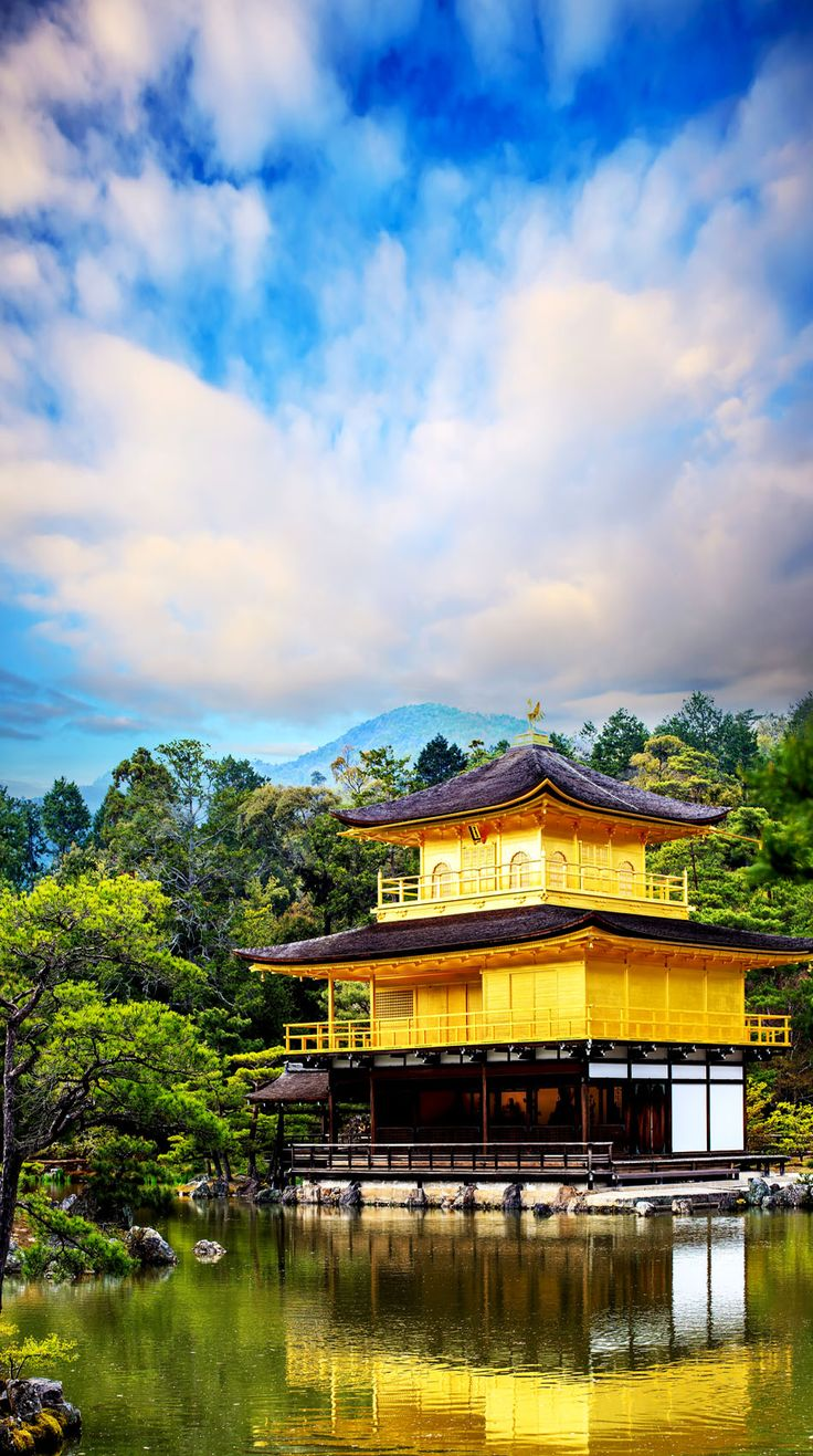 The Golden Pavilion (Kinkakuji Temple) in Kyoto, Japan  - Explore the World with Travel Nerd Nici, one Country at a Time. http://travelnerdnici.com