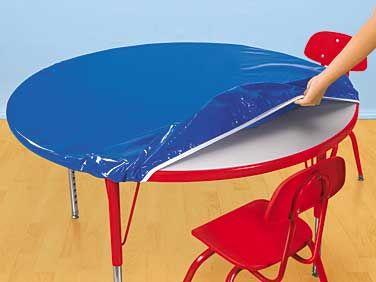 lakeshore wipeclean fitted table covers preschool classroomart preschool art table1 art