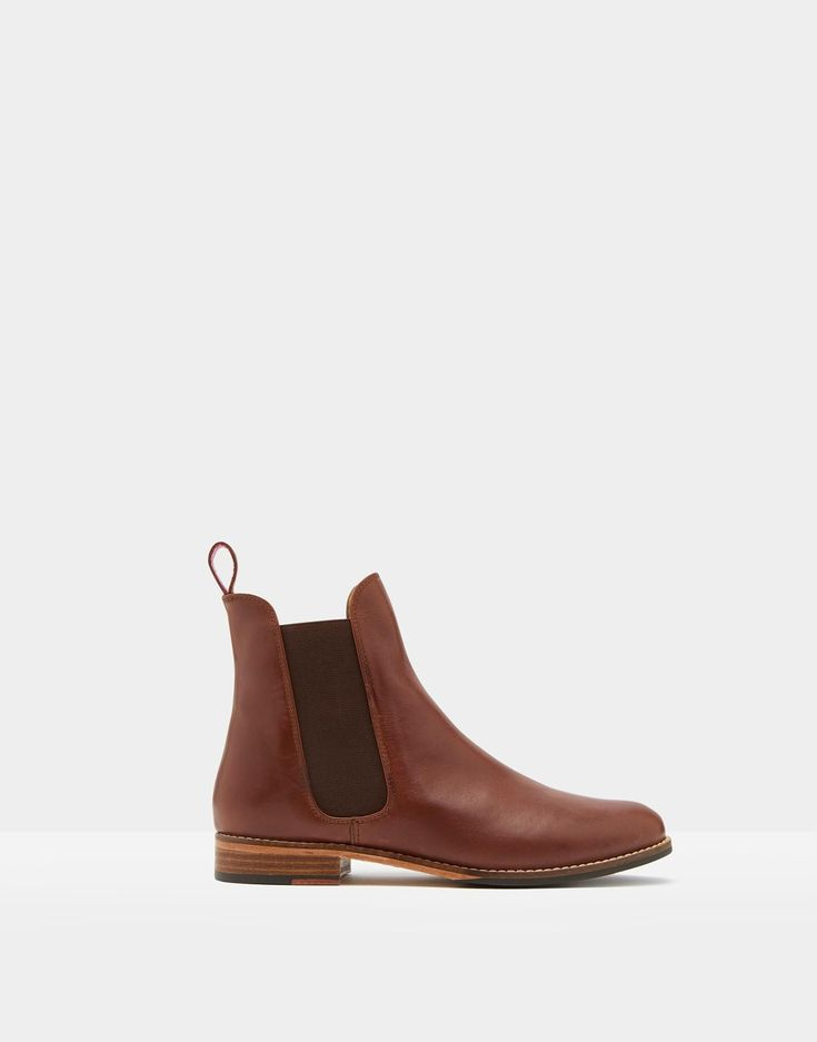 Westbourne Dark Brown Leather Chelsea Boots | Joules US #chelseaboots