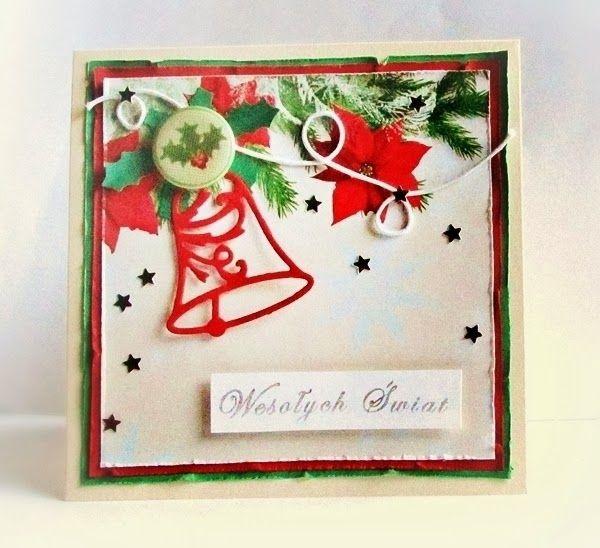 KartkA bożonarodzeniowa z dzwonkiem