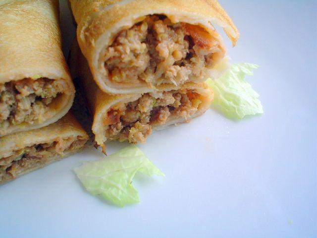 Naleśniki z mięsem mielonym (bez sera żółtego)