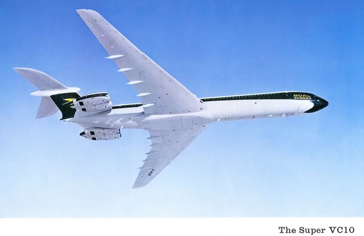 BOAC postcard of the Vickers VC10, which they made available inflight. From back in the day when not-so-many people got to travel, and even fewer were lucky enough to fly on a VC10.