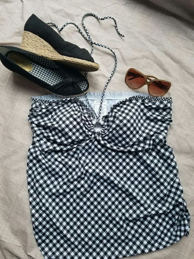 motherhood maternity bathing suit top CL checkered print tankini | Clothing, Shoes & Accessories, Women's Clothing, Maternity | eBay!