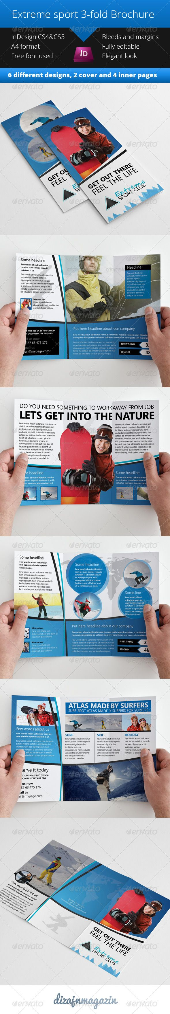 17 best images about print templates on pinterest for Sports brochure templates