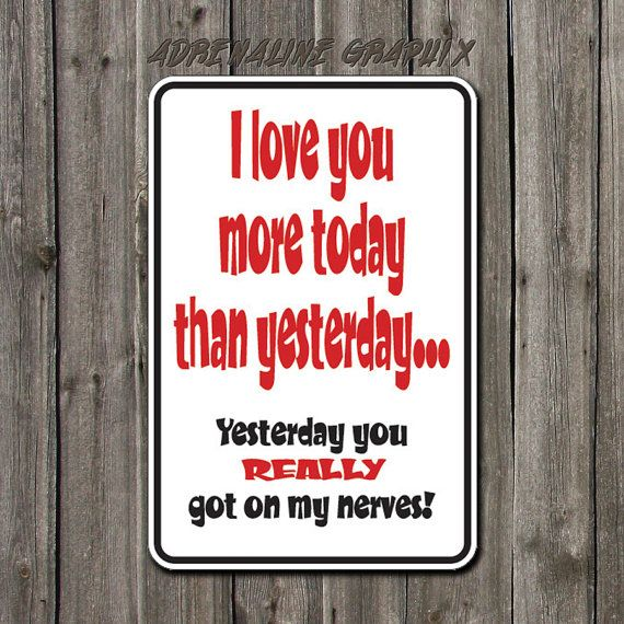 Funny Metal sign Funny i love you sign aluminum by BlueFoxGraphics