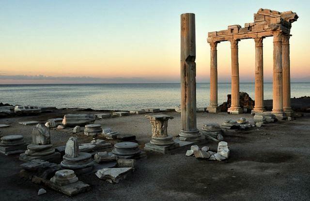 The Temple of Apollo in Side, Turkey
